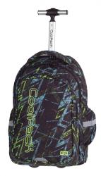 Plecak szkolny młodzieżowy na kółkach COOLPACK JUNIOR niebiesko - żółte zygzaki, LIGHTNING 761 (73653)