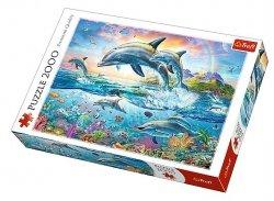 TREFL Puzzle 2000 el. Wesołe delfiny (27087)