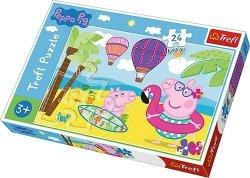 TREFL Puzzle MAXI 24 el. Świnka Peppa na wakacjach (14293)