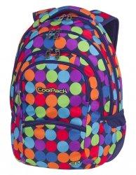 Plecak szkolny młodzieżowy COOLPACK COLLEGE kolorowe kropki, BUBBLE SHOOTER (81501CP)