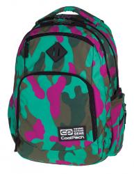 Plecak szkolny młodzieżowy COOLPACK BREAK 2 zielono - różowe moro, CAMOUFLAGE EMERALD 868 (76548)