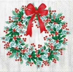 Serwetki dekoracyjne Wreath With Rowan WIENIEC 33x33 cm (SDL014800)