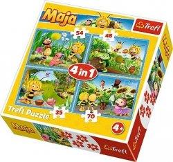 TREFL Puzzle 4 w 1 Przygody Pszczółki Mai, Pszczółka Maja (34320)