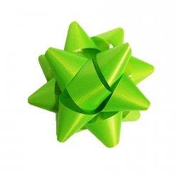 Rozetka wstążka do pakowania prezentów JASNOZIELONA matowa 8,5 cm (97203)