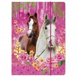 Teczka rysunkowa A4 z gumką I LOVE HORSES Konie (TGA4KO04)