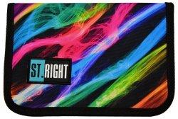 Piórnik St.Right bez wyposażenia w kolorowe smugi, NEW ILLUSION dwuklapkowy (17850)
