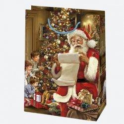 Torba torebka na prezent świąteczna MIKOŁAJ Maxi (T10_GW_18)