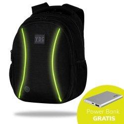 Plecak CoolPack LED JOY L czarny z żółtymi dodatkami YELLOW (B81313)