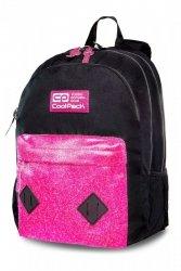 Plecak CoolPack HIPPIE czarny z różowym dodatkiem PINK GLITTER (22271)