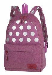 Plecak szkolny młodzieżowy COOLPACK STREET różowy w kropki, SILVER DOTS/PINK (84540CP)