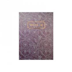 Notes z gumką A5 80 kartek w kratkę fioletowy RÓŻE (0106-0160)