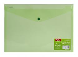 Teczka koperta transparentna na dokumenty A4 PATIO zielona (PAT3133A/N/15)