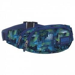 SASZETKA NERKA Back UP na pas torba niebieskie i zielone wzory TIRE TRACKS (TBB1A30)