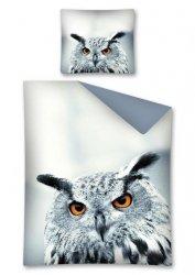 Komplet pościeli pościel 140 x 200 cm WILD ANIMALS, Sowa (2441A)