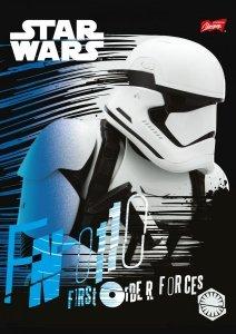 Zeszyt A5 w kolorową linię 32 kartki STAR WARS Gwiezdne Wojny mix (22320)