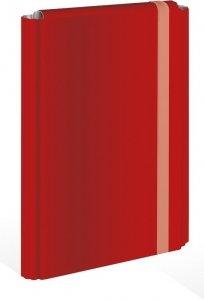 Teczka skrzydłowa z gumką A4 CZERWONA 4 cm (58649)