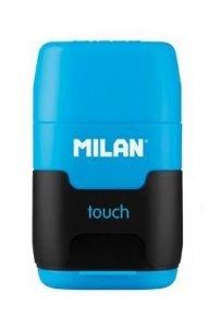 Temperówka podwójna z gumką do mazania COMPACT Touch niebieska (4706116)