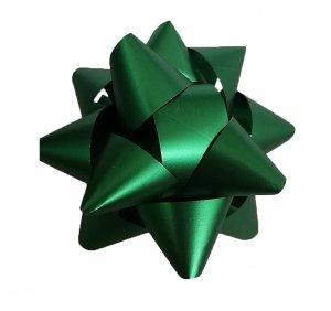 Rozetka wstążka do pakowania prezentów ZIELONA 8,5 cm