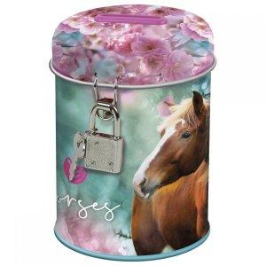 Skarbonka z kłódką I LOVE HORSES Konie (SKKO19)