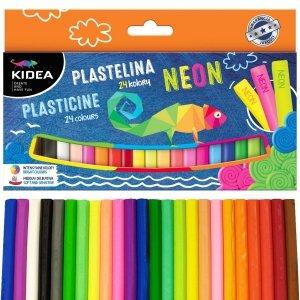 Plastelina 24 kolory + NEON KIDEA (PMIX24KA)