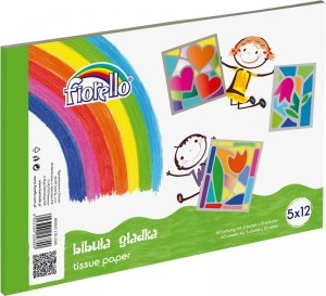 Bibuła gładka w bloku A4 5 x 12 kolorów 60 arkuszy (170-2346)