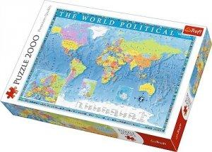 TREFL Puzzle 2000 el. Polityczna mapa Ziemi (27099)
