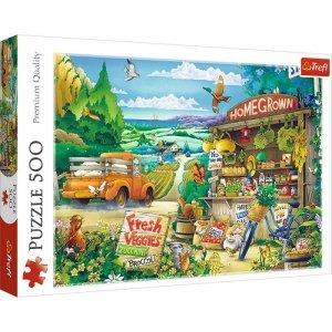 TREFL Puzzle 500 el. Poranek na wsi (37352)