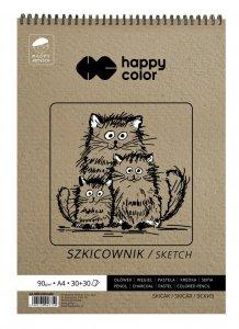Szkicownik na spirali Młody Artysta 60 ark. A4 Happy Color (07750)