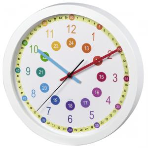 ZEGAR ścienny dziecięcy EASY LEARNING Hama, nauka zegara (186395)