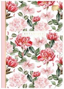 Zeszyt A5 60 kartek w kratkę Soft Touch BOTANIQUE kwiaty (99697)