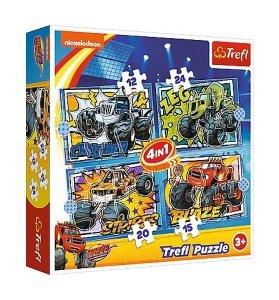 TREFL Puzzle 4 w 1 Blaze i jego przyjaciele (34349)