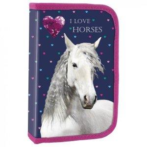 Piórnik I LOVE HORSES Konie bez wyposażenia (PJKO17)