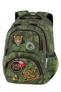 Plecak CoolPack DART z naszywkami, BADGES G GREEN (B19157)