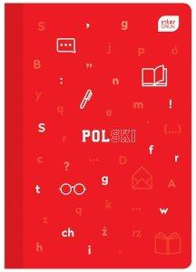 Zeszyt tematyczny przedmiotowy A5 60 kartek w linię z polipropylenową okładką POLSKI (94074)