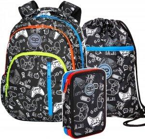 ZESTAW 3 el. Plecak CoolPack BASE 27 L pady, GAME OVER (D027326SET3CZ)