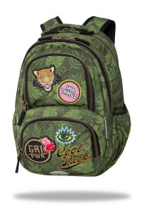 Plecak CoolPack SPINER 24 L  z naszywkami, BADGES G GREEN (C01157)