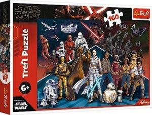 TREFL Puzzle 160 el. Star Wars Bohaterowie Gwiezdnych Wojen  (15375)