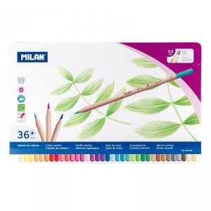 Kredki ołówkowe w metalowym opakowaniu 36 kolorów Milan (0726136)