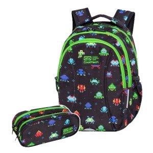 ZESTAW 2 el. Plecak wczesnoszkolny CoolPack JOY S 21L piksele, PIXELS (C48233SET3CZ)