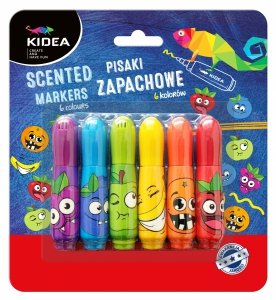 Pisaki zapachowe owocowe KIDEA 6 kolorów (PZ6KA)