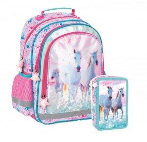 ZESTAW 2 el. Plecak szkolny I Love Horses KONIE (PL15BKO22SET2CZ)