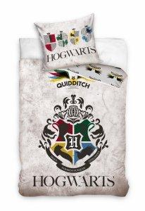 ZESTAW 3 el. Pościel bawełniana 160 x 200 cm + RĘCZNIK + PODUSZKA Harry Potter (HP191061SET3CZ)
