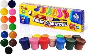 Farby plakatowe 12 kolorów +1 GRATIS ASTRA (301115005)