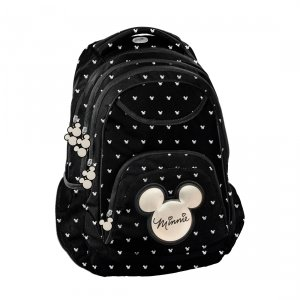 Plecak szkolny młodzieżowy Myszka Minnie, MINNIE BLACK Paso (DIBL-2708)