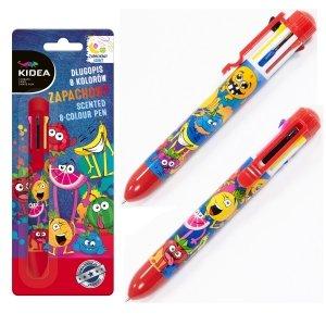 Długopis zapachowy 8 kolorów KIDEA (D8ZKA)