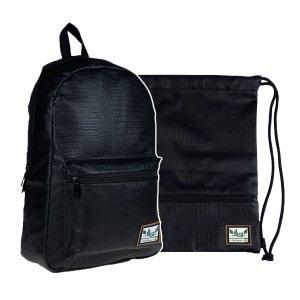 ZESTAW 2 el. Plecak HASH czarny, BLACK CHARM (502020071SET2CZ)