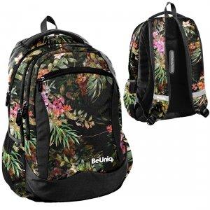 Plecak szkolny młodzieżowy kwiaty, FLOWERS Paso (PPRS20-2808)