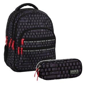 ZESTAW 2 el. Plecak szkolny młodzieżowy BackUP 28 L KLAWIATURA (PLB3M45SET2CZ)