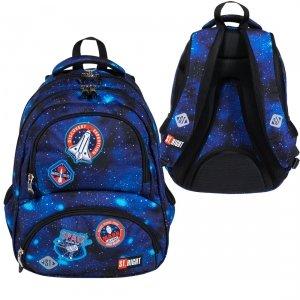 Plecak szkolny młodzieżowy ST.RIGHT misja kosmiczna, COSMIC MISSION BP7 (27460)
