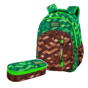 ZESTAW 2 el. Plecak CoolPack BASE 27 L miejska dżungla, CITY JUNGLE (C27199SET2CZ)
